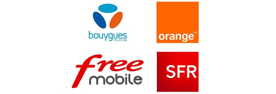 Les opérateurs mobiles sur le marché français : Orange, SFR, Bouygues Telecom, et Free